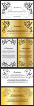 card certificate templates elegant classical symmetric decor