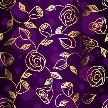 gorgeous fabric pattern background vector 3