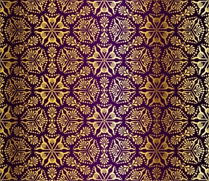 gorgeous fabric pattern background vector 4