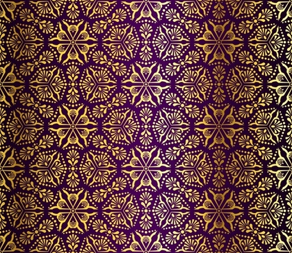gorgeous fabric pattern vector