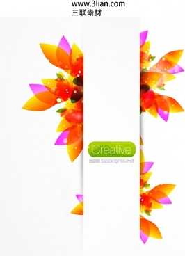 decorative background colorful petals shape sparkling modern design