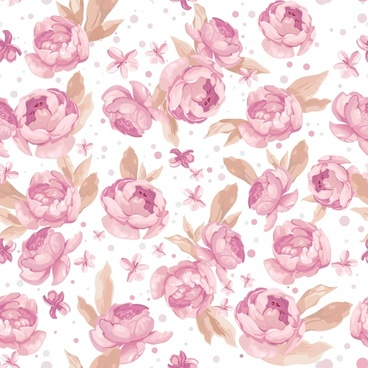 floral background elegant colored classic decor