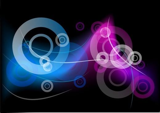 decorative background dynamic circles light effect design