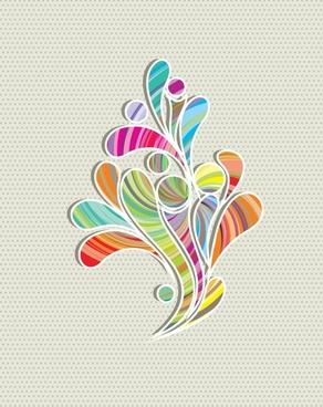 gorgeous floral background vector illustration