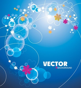 gorgeous flowers shading 01 vector