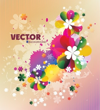 flora background modern bright colorful grunge decor