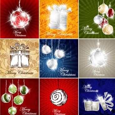 gorgeous gift lines 01 vector