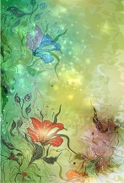 gorgeous glamorous flowers vector illustration