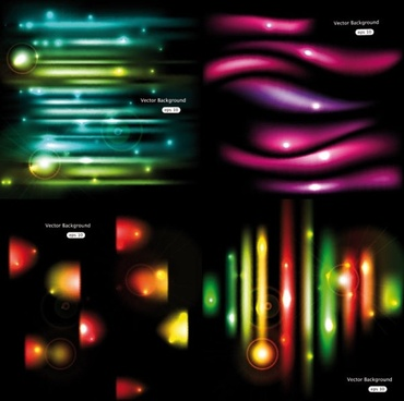 gorgeous glow background 01 vector