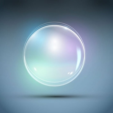 gorgeous glow bubbles vector
