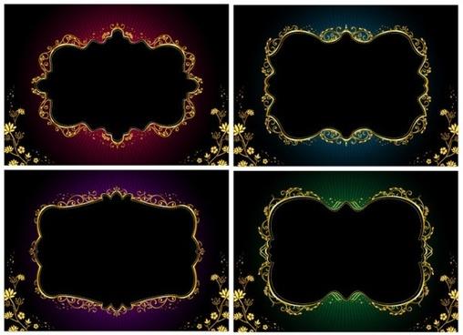 gorgeous gold lace vector