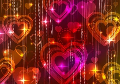 gorgeous light of valentine39s day 04 vector