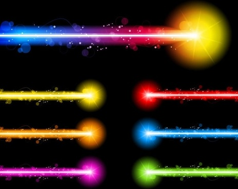 gorgeous neon effects 01 vector