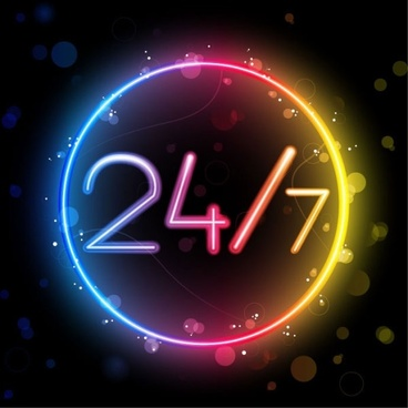 gorgeous neon effects 03 vector