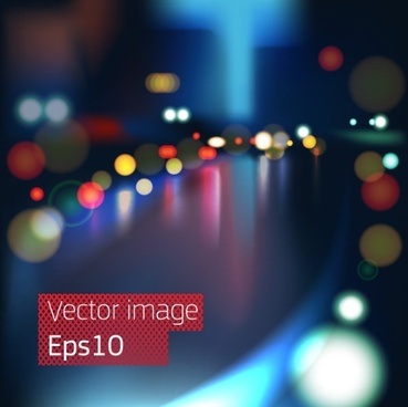 gorgeous night view of the 01 vector