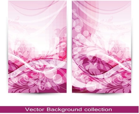 gorgeous pattern card 01 vector