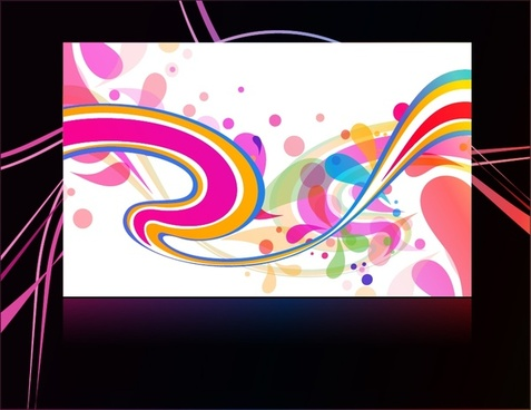 decorative background colorful abstract swirled design