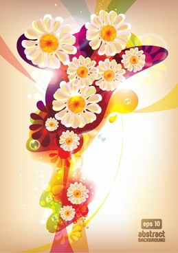 floral background modern colorful gorgeous sparkling decor