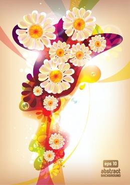 floral background modern colorful gorgeous sparkling decor