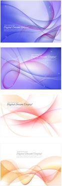 gorgeous phantom line background vector graphic
