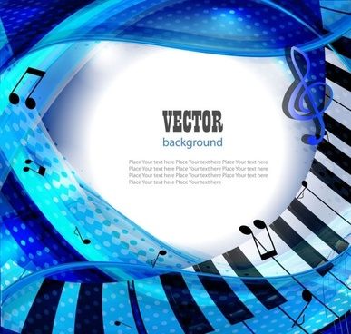 gorgeous piano key background 03 vector