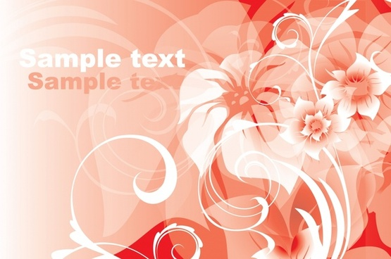 gorgeous red floral background vector