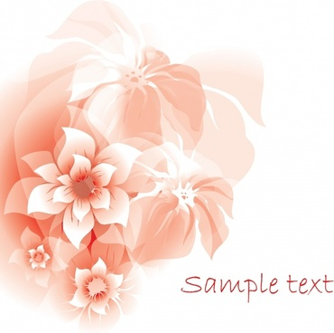 card background blooming flora decor blurred design