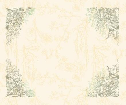 document decorative background formal retro european corners decor