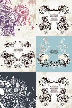gorgeous retro patterns vector