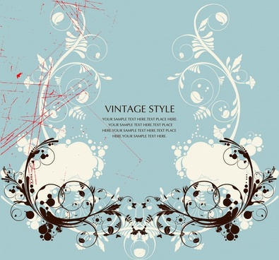 decorative background grunge vintage symmetrical curves decor