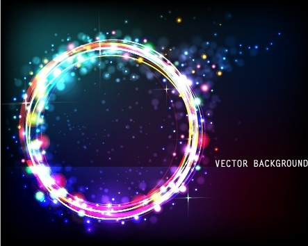 decorative background sparkling bokeh circle light
