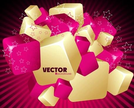 gorgeous threedimensional dynamic background 01 vector