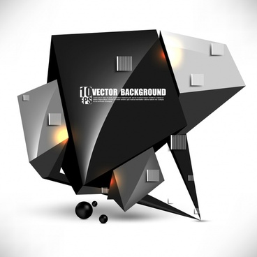 gorgeous threedimensional sense of technology background vector