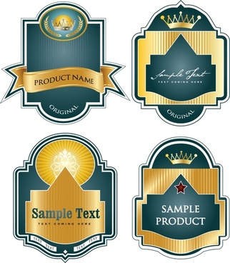 labels templates elegant gorgeous royal ribbon decor