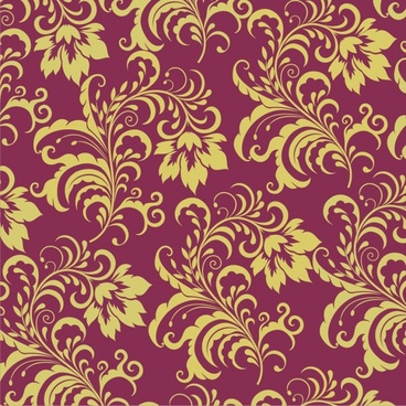 traditional pattern template classical floral curves decor