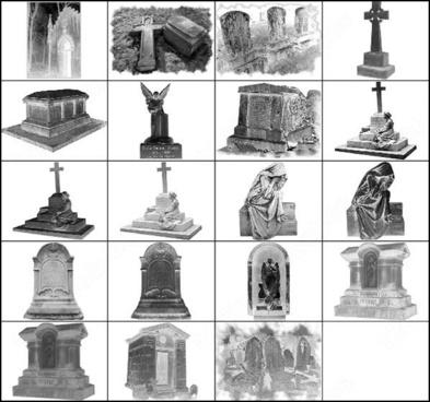 gothic cemetery brush