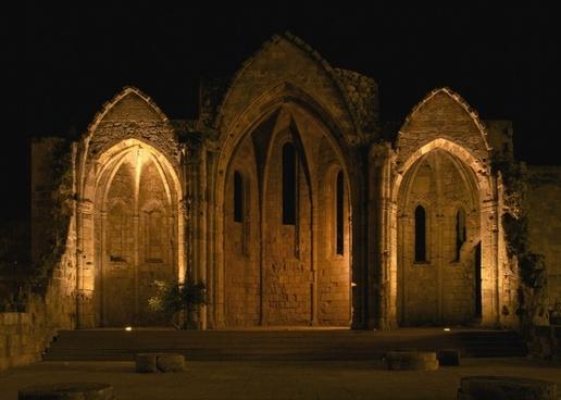 gothic gothic church archway