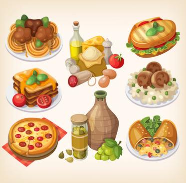 gourmet pizza vectors design