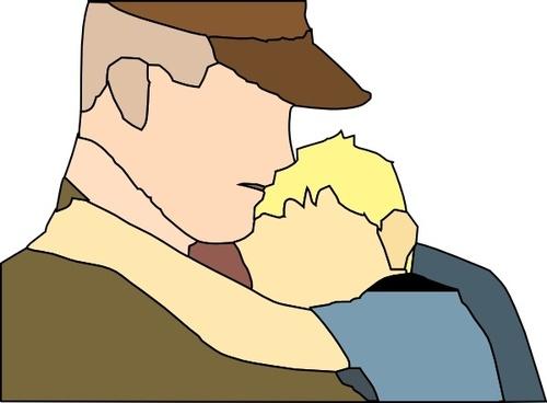 Gowing Away Hug clip art