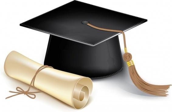 graduation background modern 3d cap diploma sketch