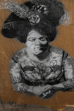 graffiti berlin nice lady