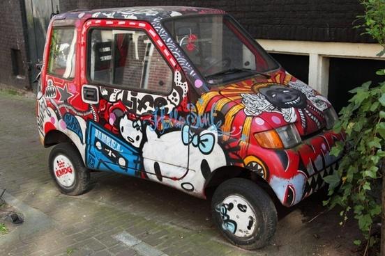 graffiti car