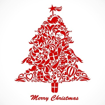 graffiti christmas tree vector