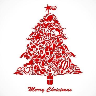 graffiti christmas tree vector