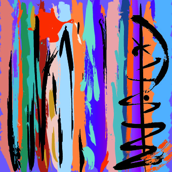 graffiti colored vector background