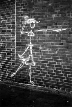 graffiti woman black white