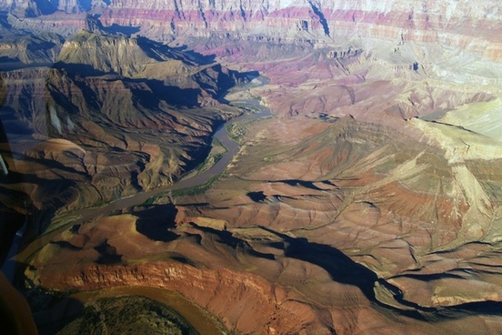 grand canyon aerial view landscape