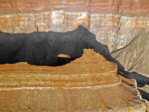 grand canyon red rocks shadow