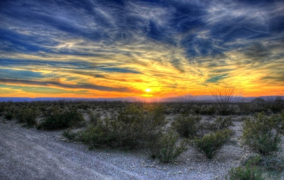 grand sunset over the desert at big bend national park texas