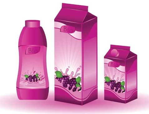 grape juice beverage vector